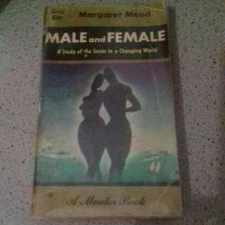 Male and Female, A Mentor Book, Margaret Mead
