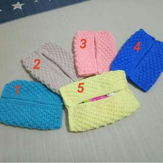 Handmade Tissue Pouch (Knitted) - Negotiable