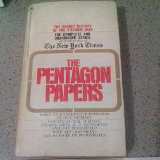 The Pentagon Papers Book, The Secret History Of The Vietnam Wars, The New York Times,