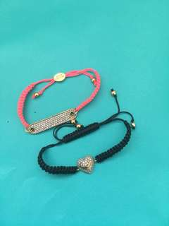 Juicy Couture friendship bracelets