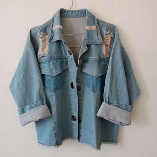 new jaket jeans all size fit L