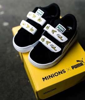 Puma x minion suede v infant black