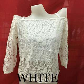 Off Shoulder Lace with Strap