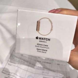 (全新New) 🌸Apple watch 3 pink x gold 42mm