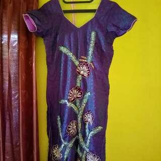 Baju india ungu