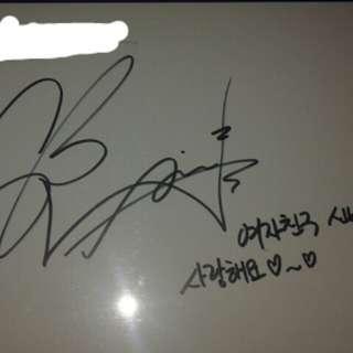 Gfriend sinb簽名mc卡 (有to簽, 有留言)