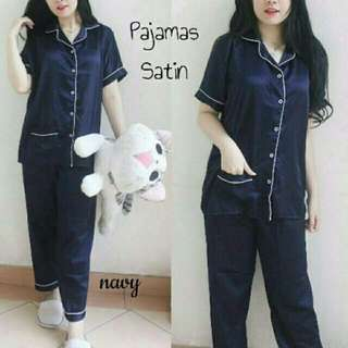 CP Piyama Pajamas Baju Tidur Satin Best Quality