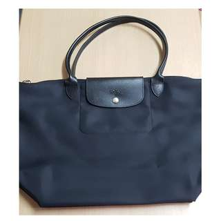 Longchamp large Le Pliage Neo shoulder Bag Tote (Black)