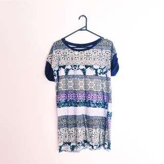 Printed Tshirt Dress