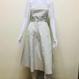 Tube denim dress