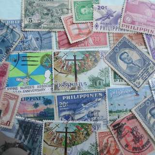 PHILIPPINES FILIPINA - 115 VINTAGE STAMPS LOT - POSTALLY USED - ng40