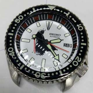seiko vintage 7002 starwars darth vader domed crystal mod skx007 diver watch