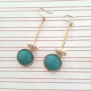 Handmade natural stone earrings