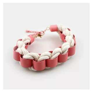 Handmade girlish pink rock bracelet