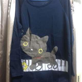 貓咪長版上衣