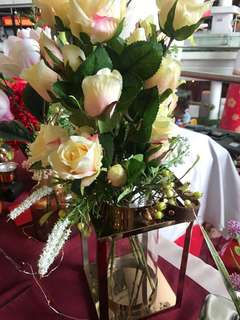 Artificial Roses Bouquet with imported vase