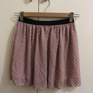 🚚 粉色雪紡點點短裙