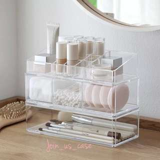 桌上化妝品/小飾品透明架