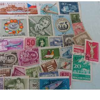 MAGYAR POSTA HUNGARY - 90 VINTAGE STAMPS LOT - POSTALLY USED - ng103