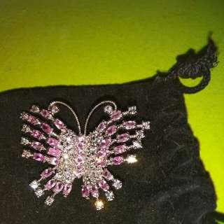 Nice silver &pink pin