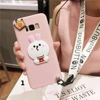 可愛皇冠兔仔&為食熊 S8/S8Plus 手機殻