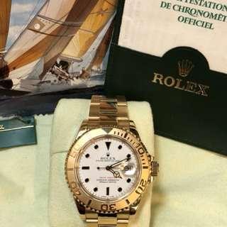 Rolex-Yacht-Master-16628-18K金錶-N頭1991年錶-40mm-足格-冇打磨過-Full Set!行貨!