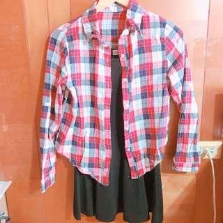 襯衫+背心裙(合售)