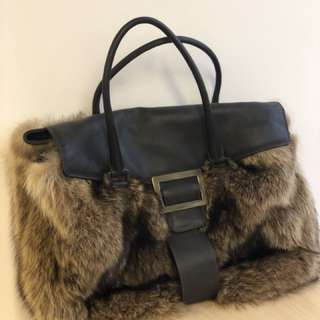 Roger Vivier real fur handbag