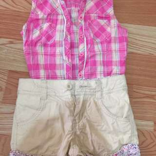 Pre loved polo And short for 2-3 years old