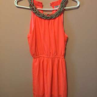 Charlotte Russe Neon Maxi Dress