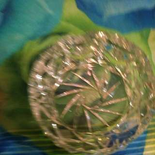 Real pin wheel crystal ash trays