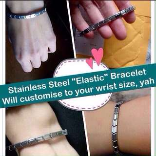 "Stainless Steel ""Elastic"" Bracelet [Unisex Wristbands bangles customised to wrist size gifts uncle.anthony uncle anthony uac ] FOR MORE PICTURES & DETAILS, GO HERE: 👉 http://carousell.com/p/149972761"