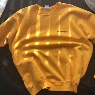 Vintage yellow champion crew neck