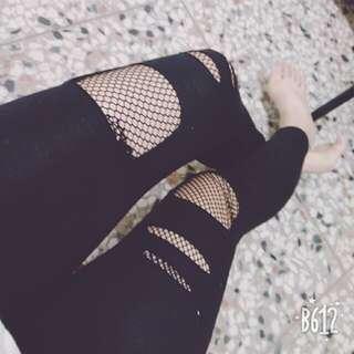 🚚 韓✩破壞型黑緊身褲