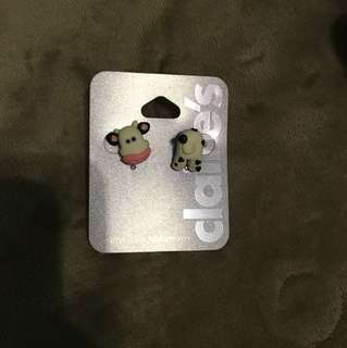 Claire's cow earrings