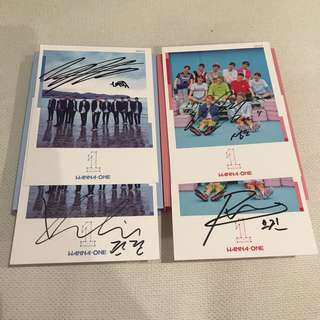 Wanna one To be one mwave signed album Sky / Pink