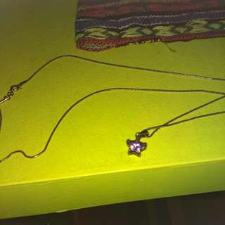 Real sterling silver chain&star
