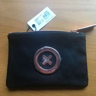 Mimco black supernatural pouch rose gold wallet purse bag