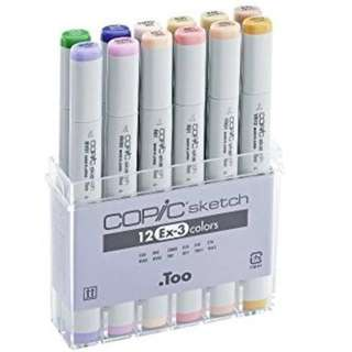 Copic Marker Copic Sketch EX-3 Set 12 Made in Japan FREE Post