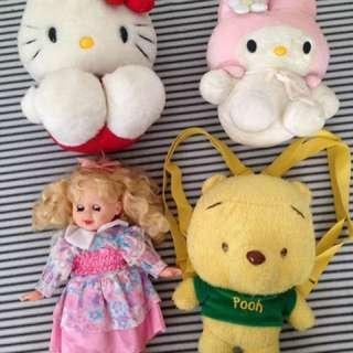 Stuffed toys @300 each
