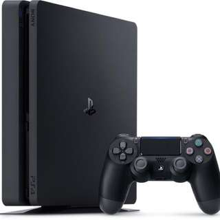Ps4 Slim 500gb, 2 controllers, 5 games, cooling fan