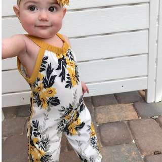 Babybitbit | 100% Cotton Baby Girl Jumpsuit | G5DRF7