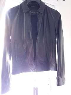 Authentic D&G black Leather Jacket