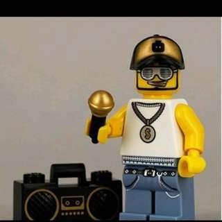 Lego 8803 Series 3 Minifigs Rapper 饒舌歌手 連底板 說明書 包裝袋 (全新開袋確認)