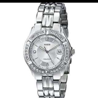 GUESS Women's G75511m Sporty Silver-tone Stainless Steel