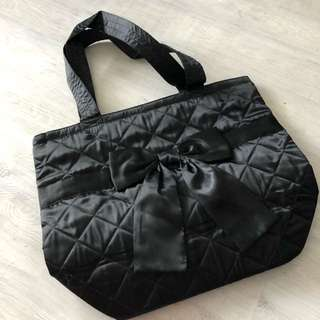 Thailand naraya black silk handbag (medium)