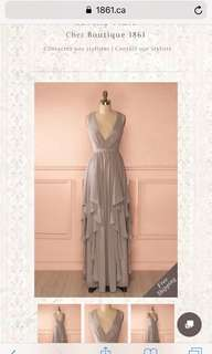 Elegant dress perfect for prom or bridesmaid