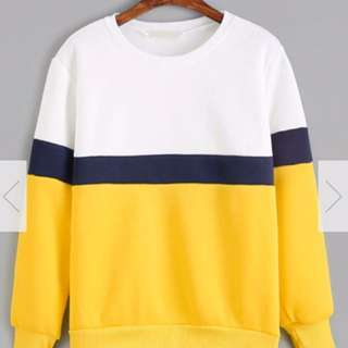 Retro Colour Block Hoodie