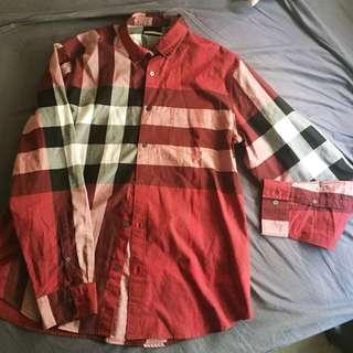 Burberry checkered shirt xl