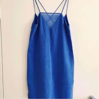 Electric Blue Backless Zara Dress